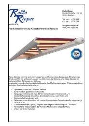 produktinformation romana - Rollo Rieper