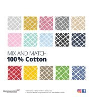 Mix and Match 100% Cotton