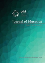 ETBI Journal of Education - Vol 2 Issue 1 -  June 2020