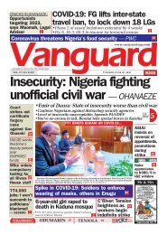 30062020 - Insecurity: Nigeria fighting unofficial civil war — OHANAEZE