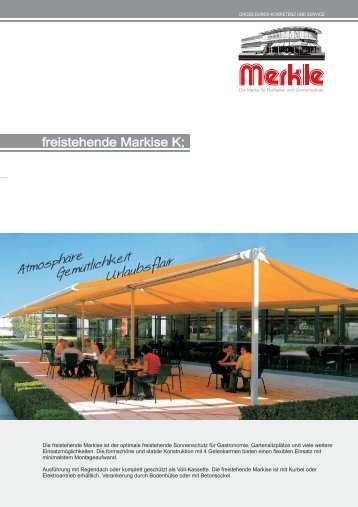110z freistehende Markise 200... - Merkle Rollladen