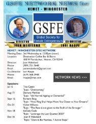 GSFE DIRECTORS & CO-DIRECTORS