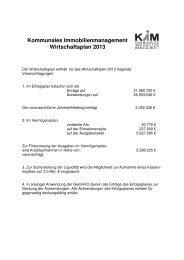 Kommunales Immobilienmanagement Wirtschaftsplan 2013 - Iserlohn