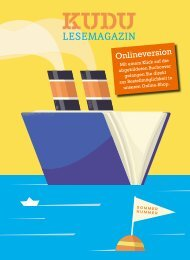 KUDU MAGAZIN: Das Lesemagazin Ihrer Lieblingsbuchhandlung – macht Lust auf Bücher und aufs Lesen! #29832