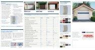 Alulux Aluminium-Garagenrolltore Schnellübersicht