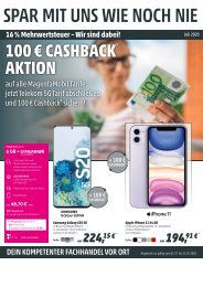 Telekom Werberunde Juli 2020 Monatsflyer