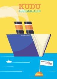 KUDU MAGAZIN: Das Lesemagazin Ihrer Lieblingsbuchhandlung – macht Lust auf Bücher und aufs Lesen! #32228