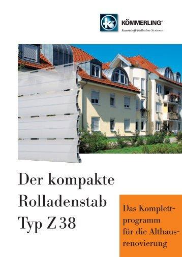 Der kompakte Rolladenstab Typ Z 38 - Rolladen Müllers GmbH ...