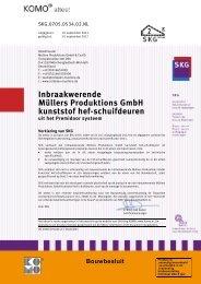 KOMO attest IBW 2 BRL 2701 - Rolladen Müllers GmbH & Co. KG