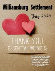 Williamsburg Settlement July 2020