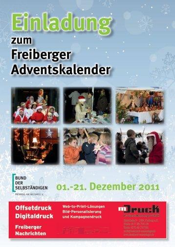 Freiberger Adventskalender-Programm 2011 - BDS Freiberg eV