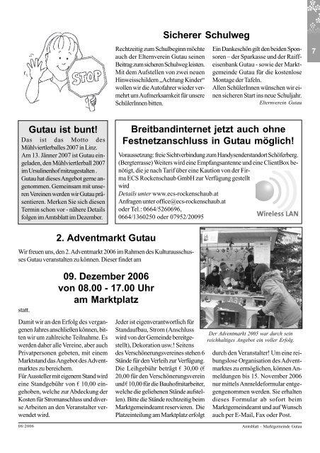 amtsblatt gutau - Marktgemeinde Gutau