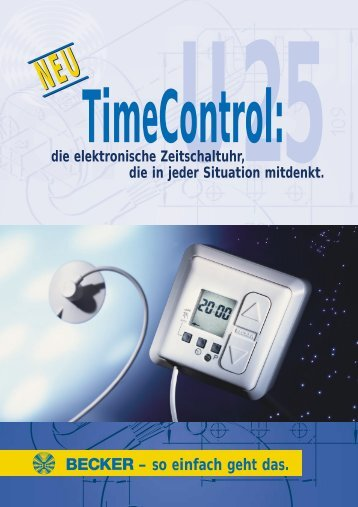 die Zeitschaltuhr TimeControl für Ihre Rollläden. – so einfach geht das.
