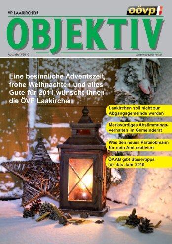 Ausgabe 2010/10 - ÖVP Laakirchen - ÖVP Oberösterreich