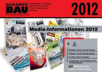 Media-Informationen 2012 - Bauelemente Bau