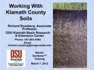 Soil Fertility - Oregon State University