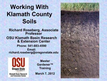 Soil Fertility - Oregon State University