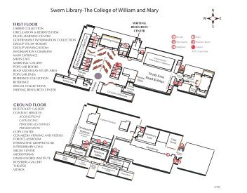 floors (PDF) - College of William and Mary