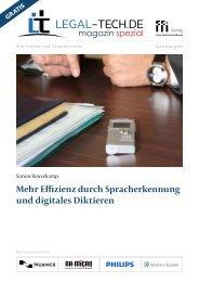 Legal Tech-Magazin Spezial: Mehr Effizienz durch Spracherkennung und digitales Diktieren