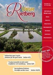 Unser Rietberg Ausgabe 07 vom 01. Juli 2020