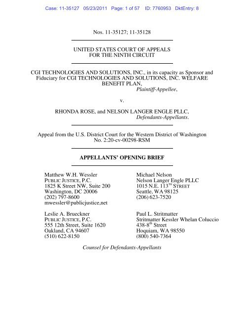 Rose Glen North Dakota ⁓ Try These Appellant's Opening Brief