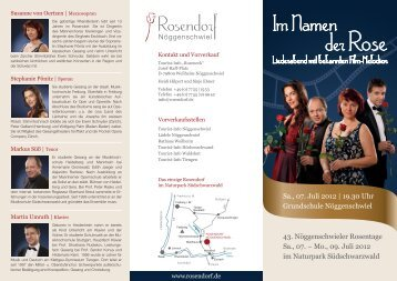 Im Namen der Rose - Rosendorf Nöggenschwiel