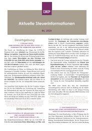 Steuerinfobrief 06 20