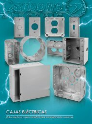 Catalogo Cajas Eléctricas Carbone Electric