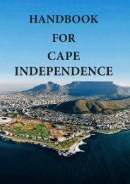 Handbook for Cape Independence