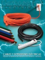 Catálogo de Cables Extensiones Eléctricas Carbone Electric