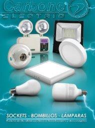 Catálogo de Sockets, Bombillos y Lámparas Carbone Electric
