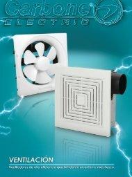 Catálogo de Ventilación y Extracción Eléctrica Carbone Electric