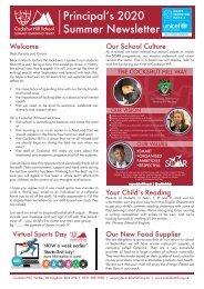 Principal's Newsletter Summer 2020