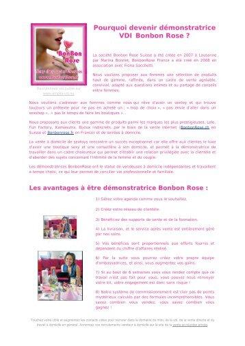 demonstratrice VDI Bonbon Rose - emploi vdi .eu