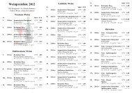 Weinpreisliste 2012 - Weingut Tullius - Sommerloch