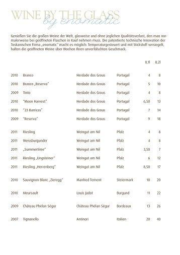 Weinkarte Zum Download   Marburger Esszimmer