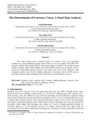 The Determinants of Currency Crises: A Panel Data ... - EuroJournals