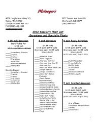 2012 Specialty Plant List Geraniums and Specialty ... - Milaegers.com