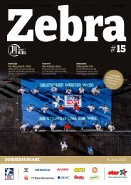 Zebra Sonderausgabe - Aktualisierte Ausgabe mit Meisterschalen-Übergabe