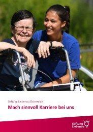 Karrierebuch - Stiftung Liebenau Österreich