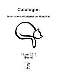 Catalogus Internationale kattenshow Mundikat