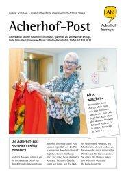 Acherhof-Post Nr. 12   3. Juli 2020