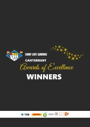 2020 Canterbury Awards of Excellence Winners Booklet