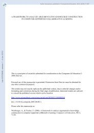 A framework to analyze argumentative knowledge construction in ...
