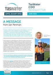 TasWater CDO Newsletter June 2002