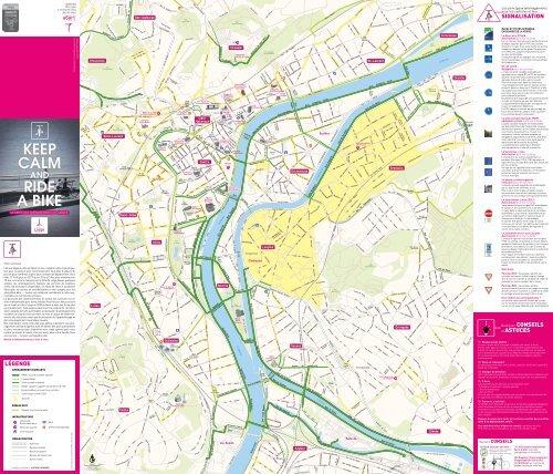 Carte des aménagements cyclables de la Ville de Liège
