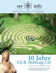 SER Stiftung CH 10 Jahre - SER foundation CH