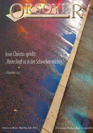 Ausgabe 2012 - Evangelische Kirchengemeinde Orsoy