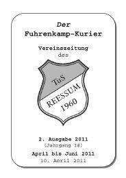 Der Fuhrenkamp–Kurier Vereinszeitung - Tus Reeßum eV