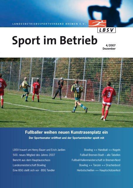 Sport Im Betrieb Lbsv Bremen